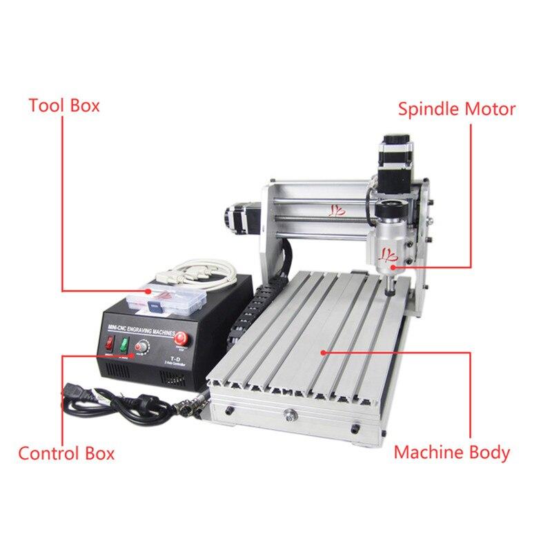 230W 3Axis DIY CNC Milling Machine 3020 45mm Z Axis Stroke cnc spindle YOOCNC router Числовое программное управление