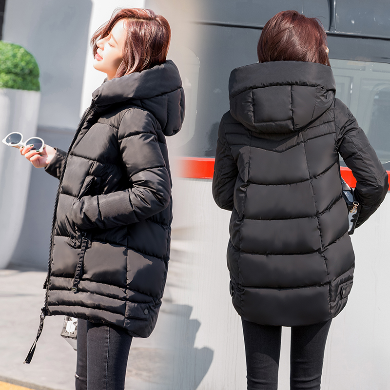 2018 high-end! Maternity Winter down jacket coat parka Outerwear loose Thickening warm Hooded women Casual jackets Coats CF10 2018 fashion maternity winter thickening the warm cotton padded clothes women pure slim casual jacket hooded coat parka cf5