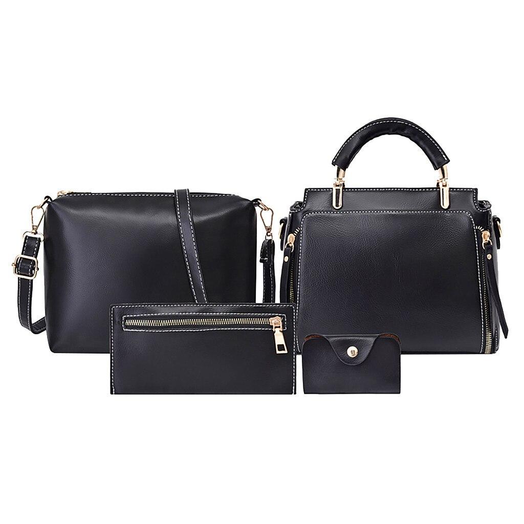 4 шт. набор женских сумок с верхней ручкой Вместительная женская сумка модная