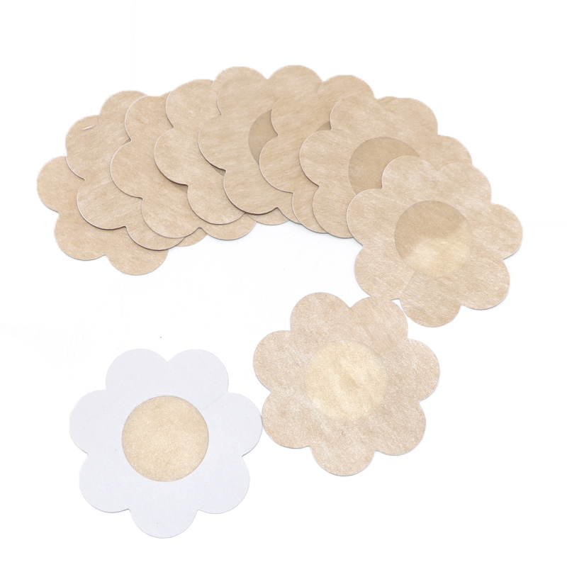 10pair Flower Adhesive Nipple Covers Pads Body Breast Petals Nipple Sticker Disposable Paste Anti Emptied The Chest Paste Bra