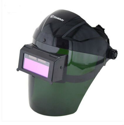 Welding mask headset automatic variable light welding cap face mask glasses welding arc shield Soldering iron solar energy automatic light changing electric welding mask auto darken shading grinding welding goggle mask cap