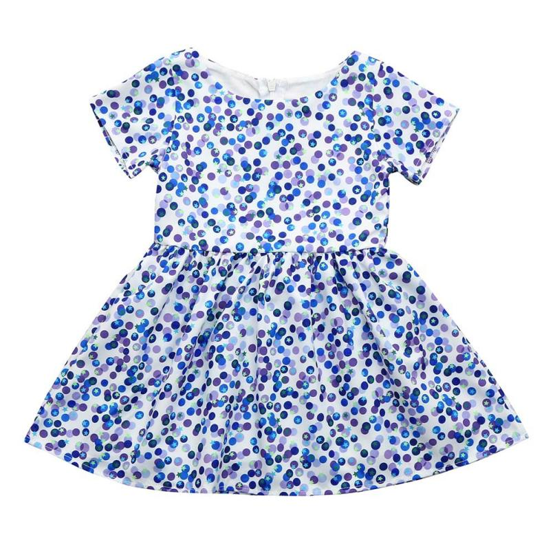 Girls Dress Cotton Dot Pattern Mini Short Sweet Casual BabyGirls Princess Dress for Summer&Spring Party 18Apr2