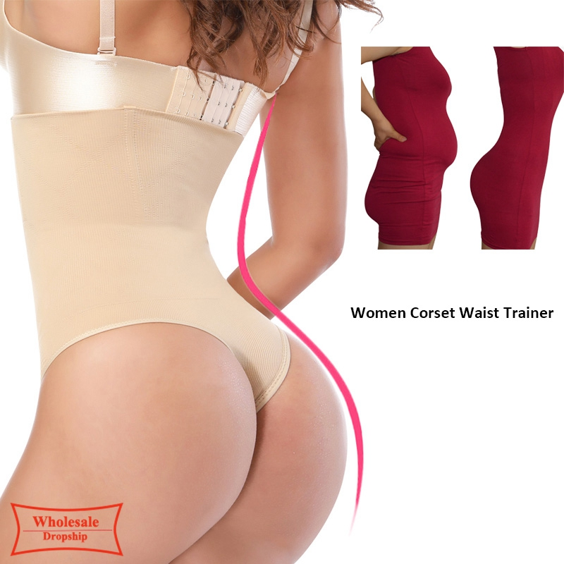 2019 Women High Waist Body Shaper Panties Seamless Tummy Belly Control Waist Slim Pants Shapewear Girdle Underwear Waist Trainer