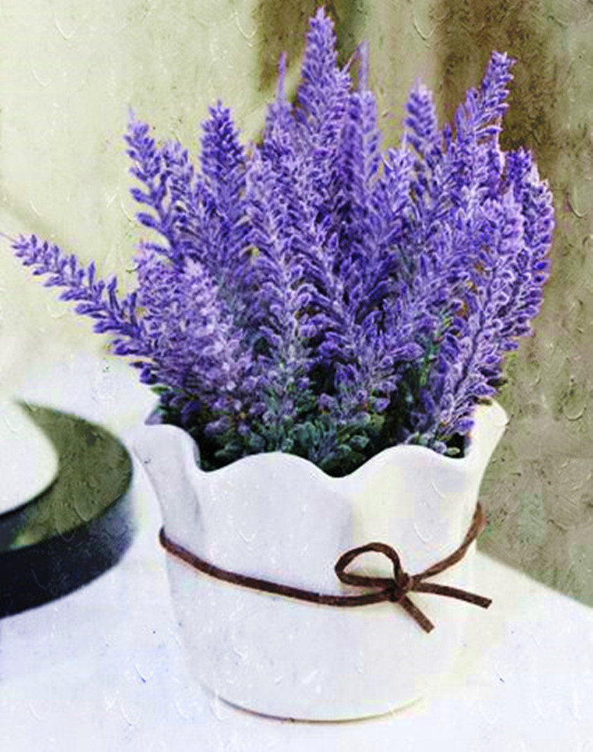 Free Shipping Rustic Style Home Decor Wedding Decoration Artificial Lavender Bonsai All In One Flower And