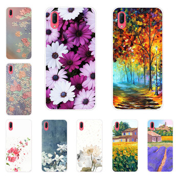 Vivo Y93S Y93 Case,Silicon Flower Plants Painting Soft TPU Back Cover for Vivo Y93S Y93 protect Phone shell