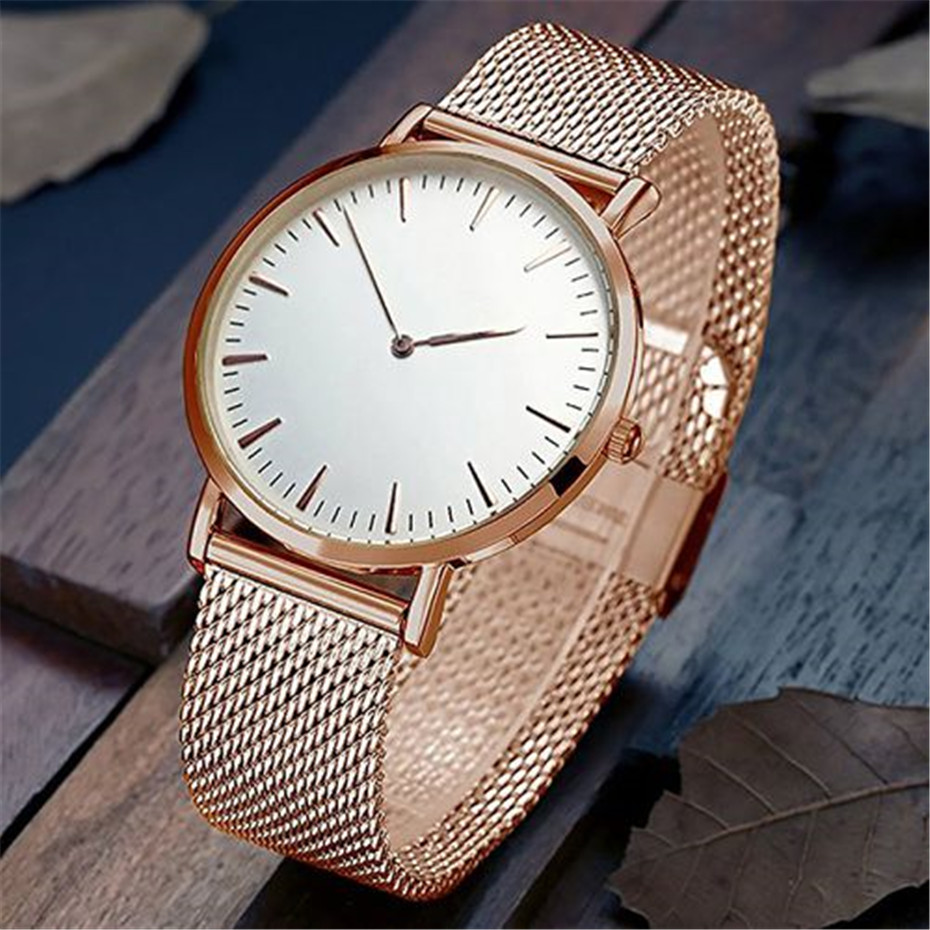 Rose Gold/Silver Women Watches Mesh Stainless Steel Band Luxury ladies Wrist Watch Simple Casual Female Clock 2018 New Top Brand top luxury brand quartz watch women simple dress casual japan rose gold stainless steel mesh band ultra thin clock female unisex