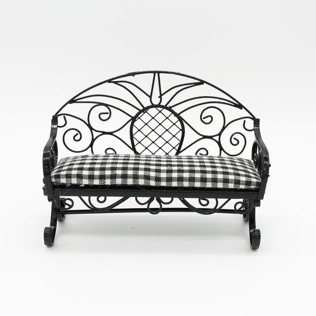 1/6 Básculas Dollhouse Muebles miniatura doble sillas sofá doble ...