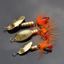 Buy 3Pcs/lot Spinner bait 2.5g 3.9g 5.5g Metal Spoon Fishing Lure Mustad Feather Hooks Carp Fishing Tackle Wobblers Isca Artificial directly from merchant!