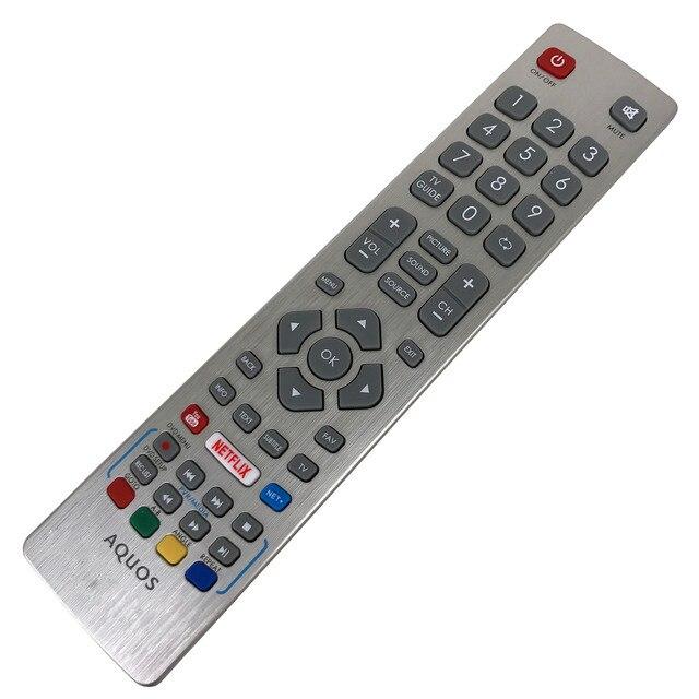 جهاز التحكم عن بعد الأصلي الجديد لشارب Aquos HD تلفاز LED ذكي DH1901091551 مع مفتاح نيتفليكس يوتيوب Fernbedienung