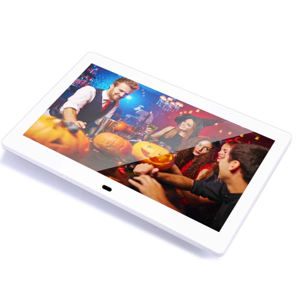 Ultrathin LED Screen Digital Photo Frame HD 1024 x 600 Electronic Picture Player Music Video Full Function 10.1 Inch