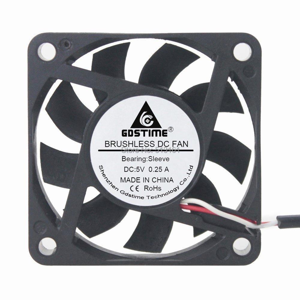 30Pcs Gdstime DC 5V USB Fan Cooler 60mm 60x60x15mm 6CM PC Case CPU Motor Cooling Radiator in Fans Cooling from Computer Office