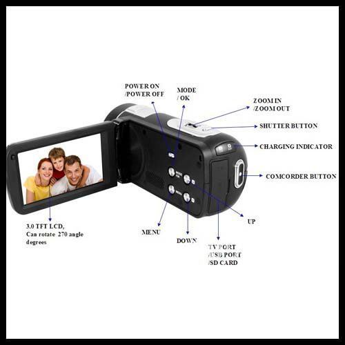 2012 NEW Design- high resoluation New Digital Video Camera 3.0'' TFT LCD screen Camcorder with HDMI output HDV530A