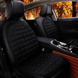 Image 2 - รถยนต์ที่นั่งไฟฟ้า Heated รถเบาะที่นั่งเบาะ Pad เครื่องทำความร้อนอุ่นฤดูหนาว Supply สีดำสีเทา