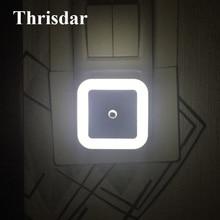 Thrisdar EU US Plug Novelty LED Night Light Wall Socket Light Sensor Night Lamps Baby Kids