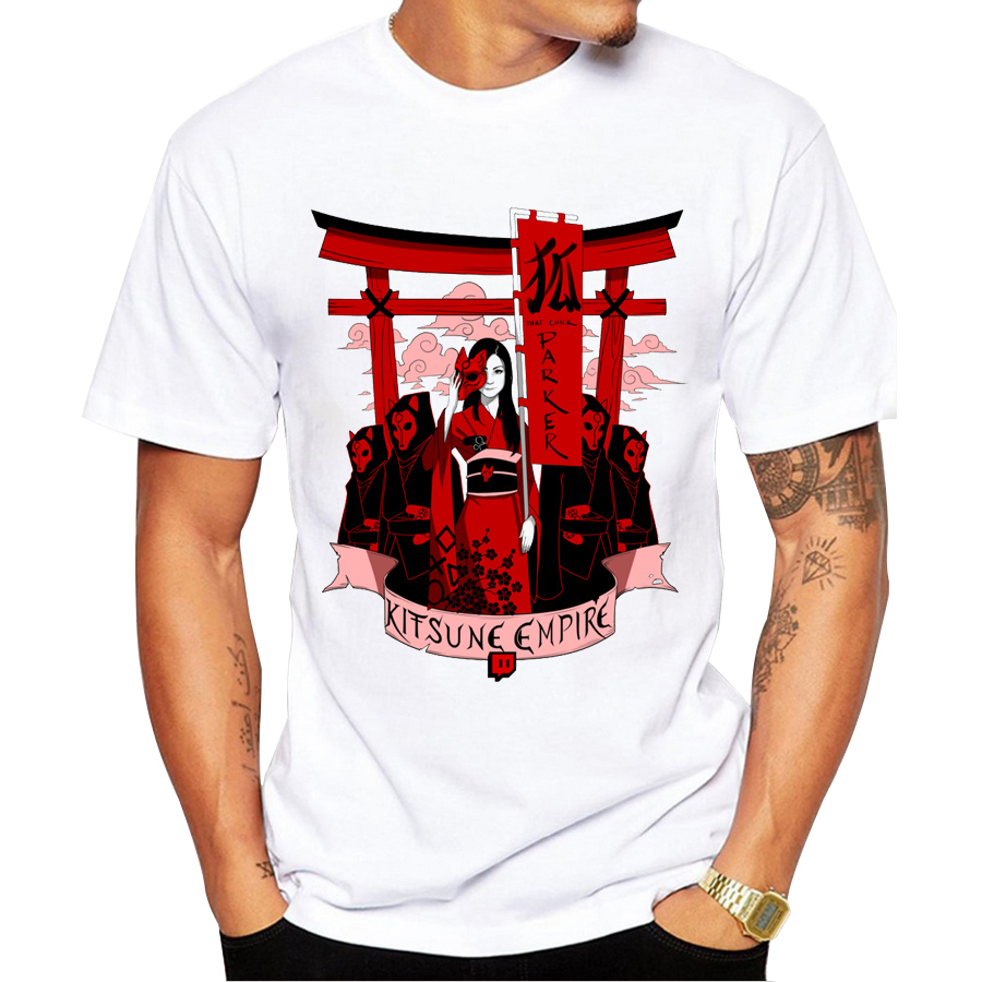 2017 fashion kitsune empire design men t shirt short for T shirt design 2017