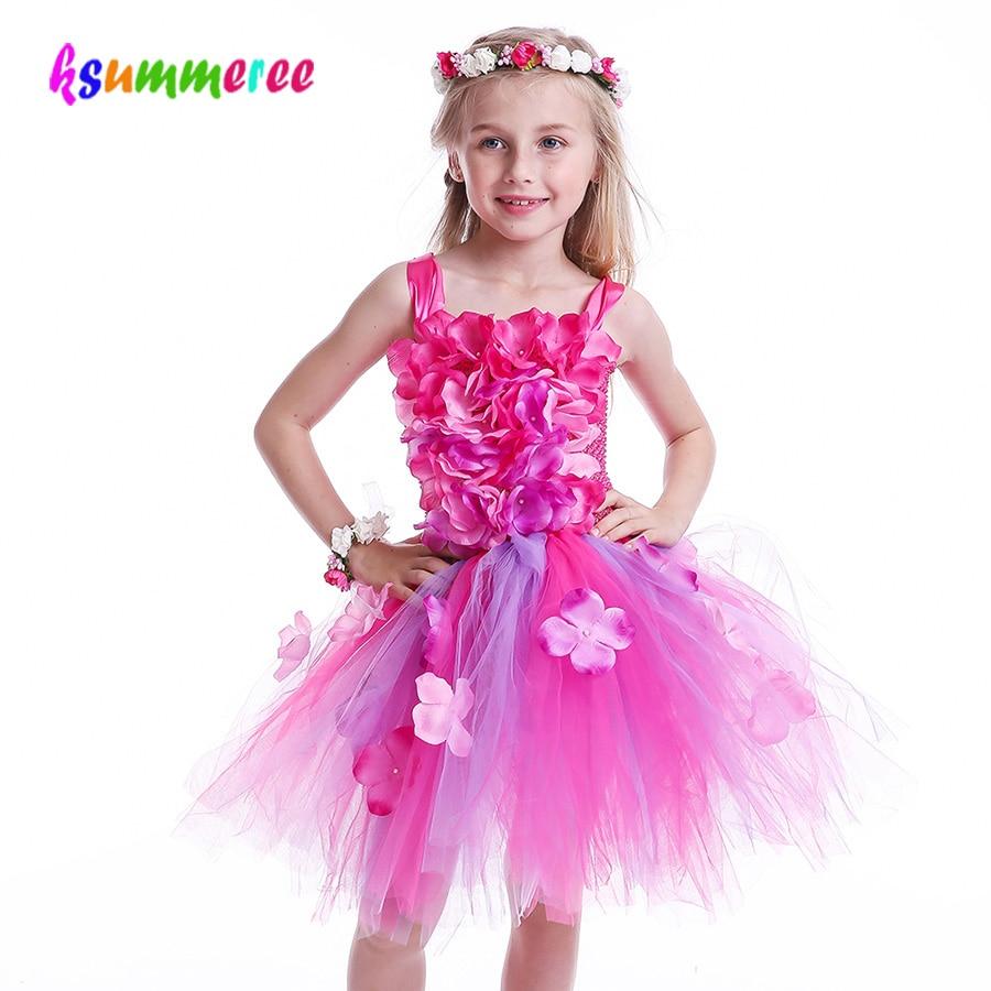 Girls Sleeveless tulle rosette summer dress wedding,party,tutu  size 5