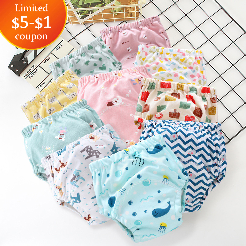 Potty Training Pants Cotton Washable Nappy Diaper Cover Child Kid Toddler