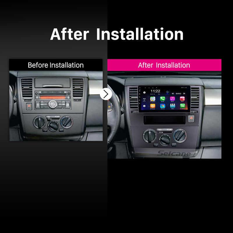 Seicane Android 8,1 для 2005-2010 Nissan Tiida 9 дюймов HD сенсорный экран gps навигация Радио Bluetooth 3g WiFi цифровой ТВ SWC