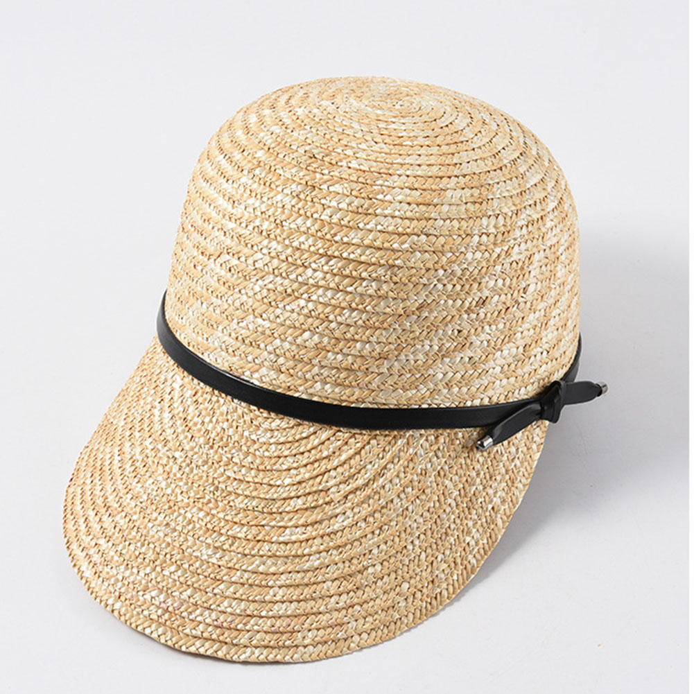 Women Visor Cap Solid Casual Sunshade Summer Adjustable Rope Straw Fashion Beach Outdoor Accessories Wide Brim Gift Sun Hat(China)