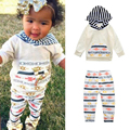 Baby Boys Girls Clothes New 2017 Spring Summer Newborn Baby Clothing Sets Cotton Hoodies + Pants 2pcs/lot Toddler Girl Clothing