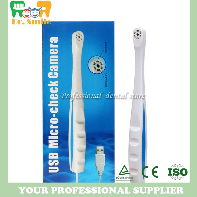 Nouveau 6LED dentaire intra-oral lumière numérique Micro caméra professionnelle USB Micro-chèque caméra/Oral dentaire caméra USB 2.0 blanc