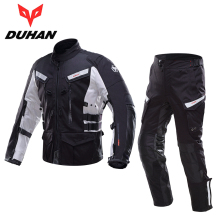 DUHAN Professional Men Motorcycle Touring Travel Riding Jacket Pants Sets Waterproof Motocross Off-Road Racing Raincoat Clothing