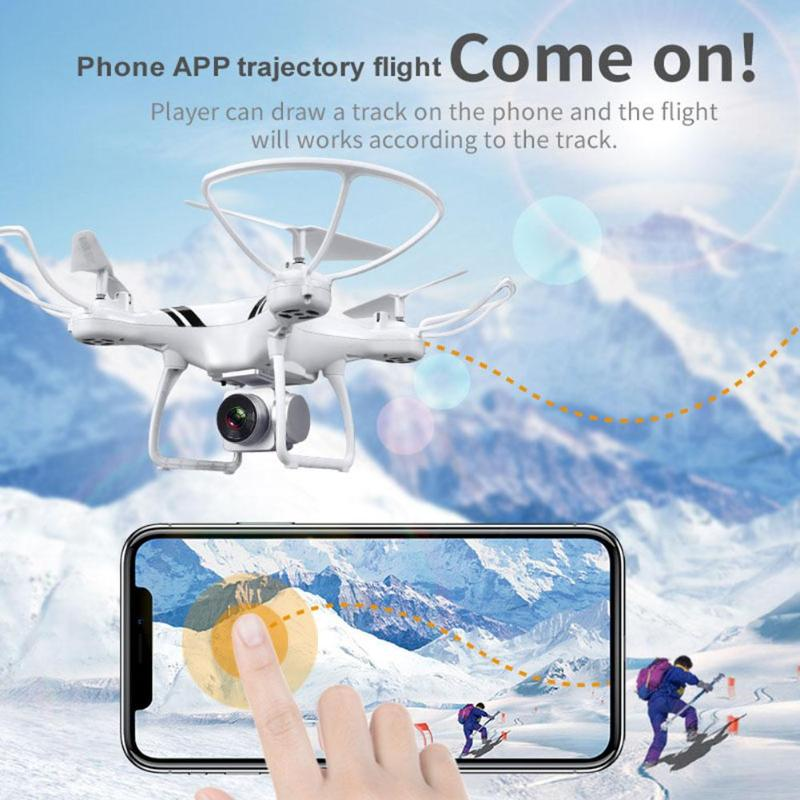 KY101 RC Camera Drone WiFi FPV HD 0.3MP Camera 4CH 6 Axis Gyro Altitude Hold One Key Return/Take Off Headless Quadcopter Drone jmt cg030 foldable 0 3mp camera drone wifi fpv 6 axis gyro altitude hold headless rc quadcopter mini drone app control rc dron