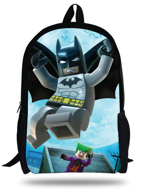 16inch New arrived Printing Batman Backpack for schoolboy Cute Cartoon  Superman design gifts primary school Students Bookbag 321e60aed8b1e