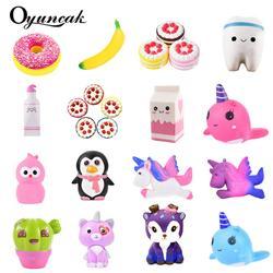 Oyuncak Squishy Новинка Gag игрушки Jumbo Fun Squish антистресс-сюрприз игрушки для снятия стресса для детей милые Squeeze медленный рост