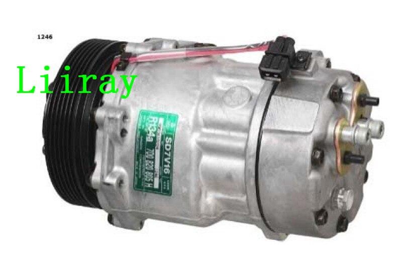 Auto ac compressor for VW TRANSPORTER IV 90-03 LT 28-35 28-46 II 96-06 7D0820805H 7D0820805K 7D0820805C 7D0820805G