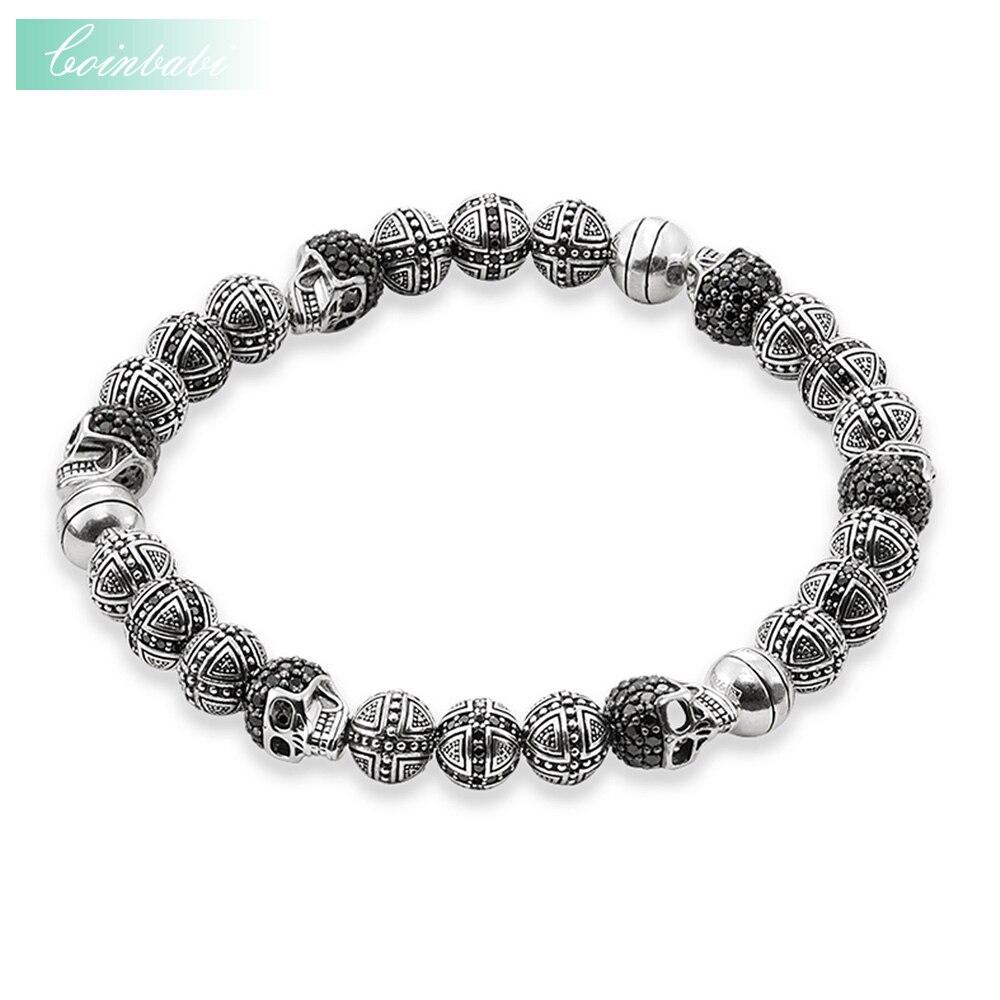 Thomas Rebel Skulls And Cross Hero Bead Elastic Bracelet From Heart Style Ts 2017 925 Sterling