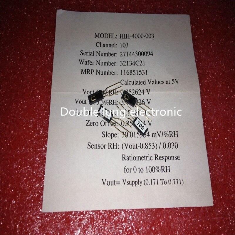 10pcs Lot HIH 4000 003 Humidity sensor HUMIDITY 5V 3 5 SIP HIH4000 003 Original authentic