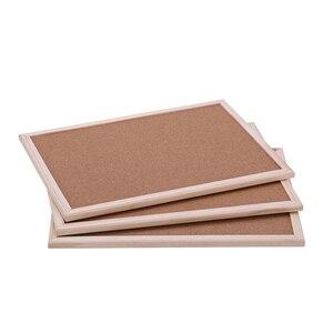 Image 5 - 1PCS cork message board 30*40cm board Cork needle Board Combination Drawing Board Pine Wood Frame