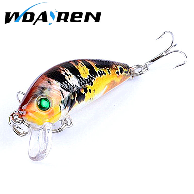 WDAIREN 1Pcs Hard Bait Minnow 5cm 3.8g Fishing Lures Tackle 3D Eyes 10# Hooks 5Color Painted wobbler Fishing Accessory FA-430 wldslure 1pc 54g minnow sea fishing crankbait bass hard bait tuna lures wobbler trolling lure treble hook