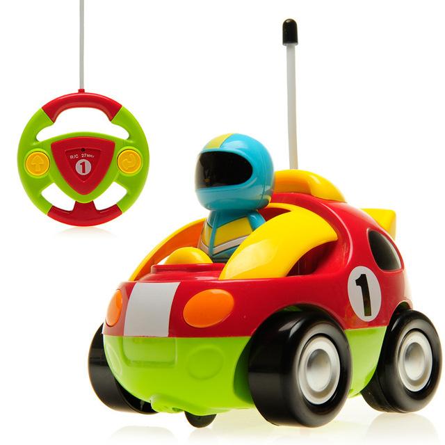 Hot New Autênticos das Crianças Dos Desenhos Animados do Carro de Controle Remoto Carro de Corrida, Brinquedos do bebê Música Controle de Rádio Automotivo Carros De Presente De Aniversário