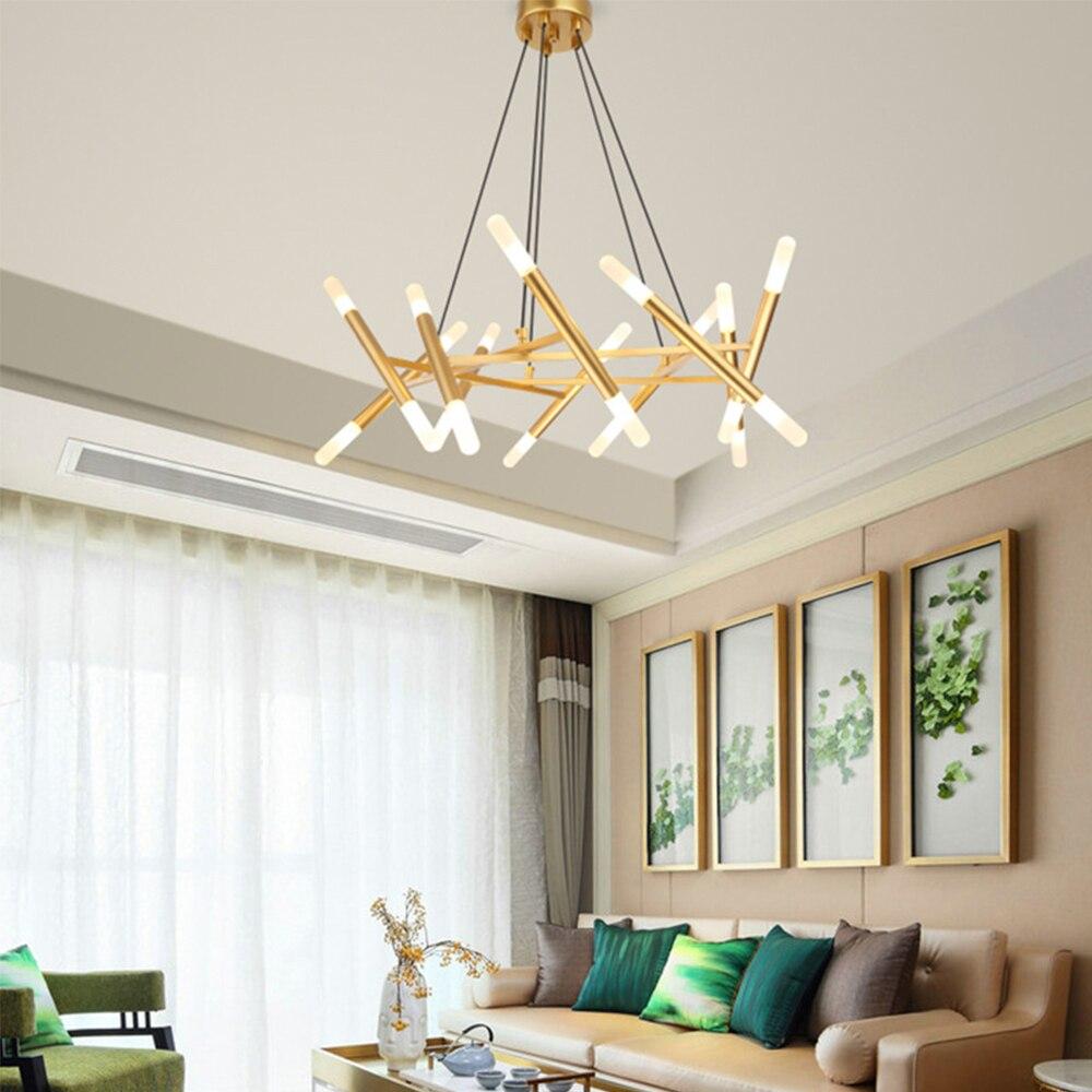 Candelabro de techo con ramas de árboles de moda nórdica Decoración LED diseño moderno interior para dormitorio comedor candelabro - 4