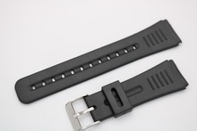 22mm(20mm buckle)New Men Lady Black Silicone Rubber Straight  End watchband Strap Belt Silver Polished Pin Spring Bar Buckle недорого