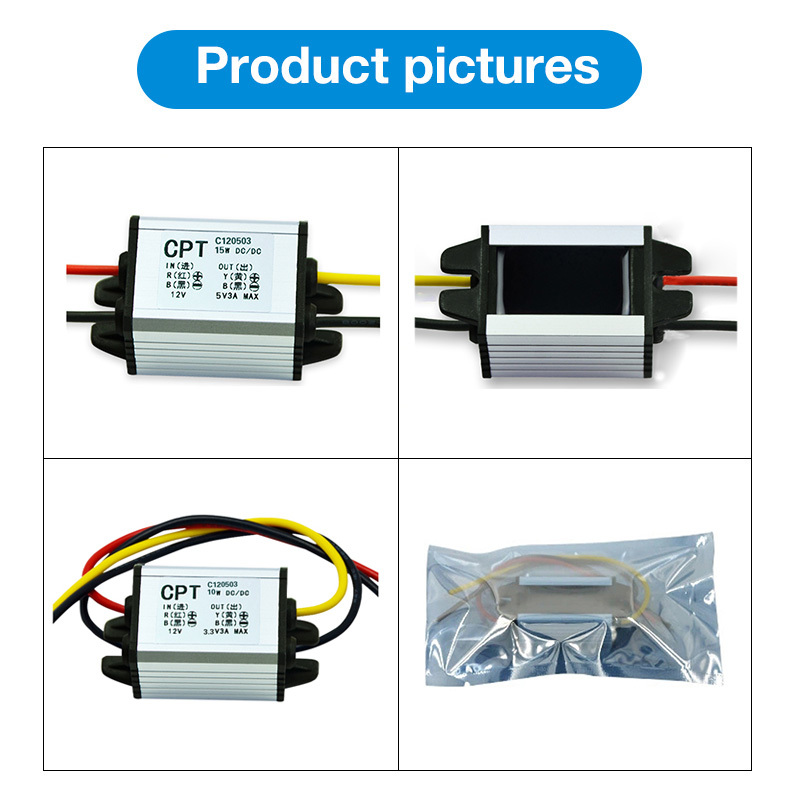 2018 Grid Tie Power Supply Converter Ac/dc Step-down 8-52v To 7.5v3a Waterproof Control Inverter Car Module Size 54*35*21mm