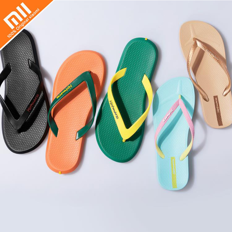 8017aa91ad3 Detail Feedback Questions about Original xiaomi Hotmarzz solid color couple  flip flops Smart environmental protection PVC slip indoor ladies men s home  ...