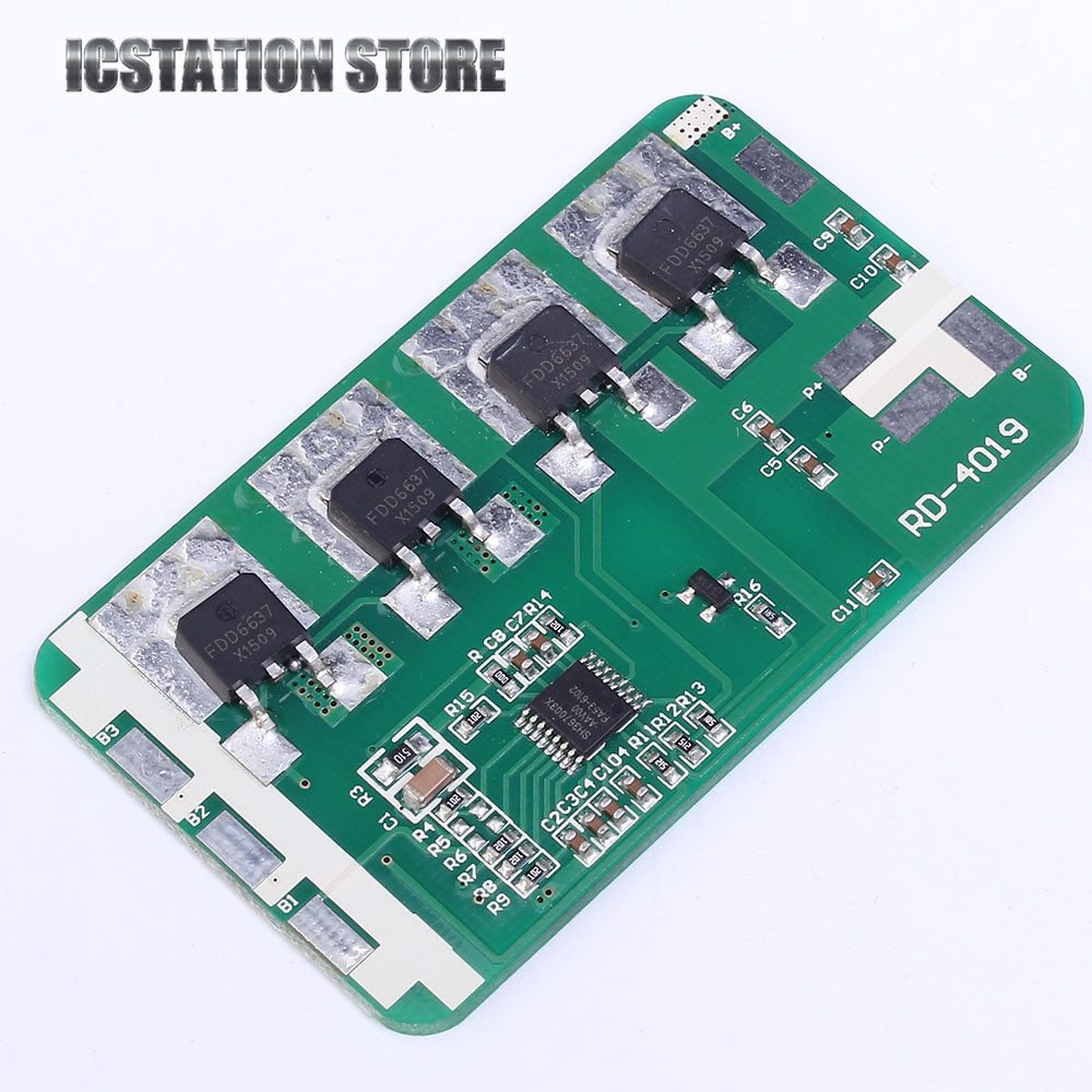 3S 10A Li-ion Lithium Polymer Battery Charging Protection Board 11.1V 12V 12.6V PCB PCM Charger Module 65mm*31mm 5pcs 5v 1a micro usb 18650 li ion lithium battery charging protection board charger module tp4056 for arduino