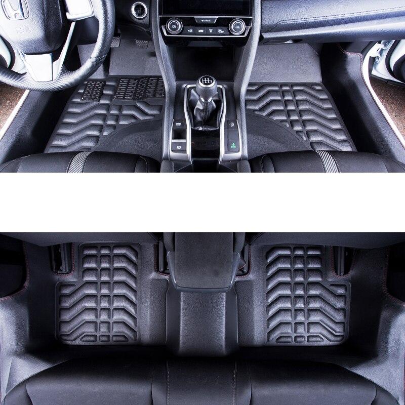 Lsrtw2017 Fiber Leather Car Floor Mat For Honda Civic 10th