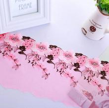15Yard Embroidered Flower Lace Fabric Trim Ribbon For Wedding Dress Doll Cap Apparel Sewing Clothing Accessories