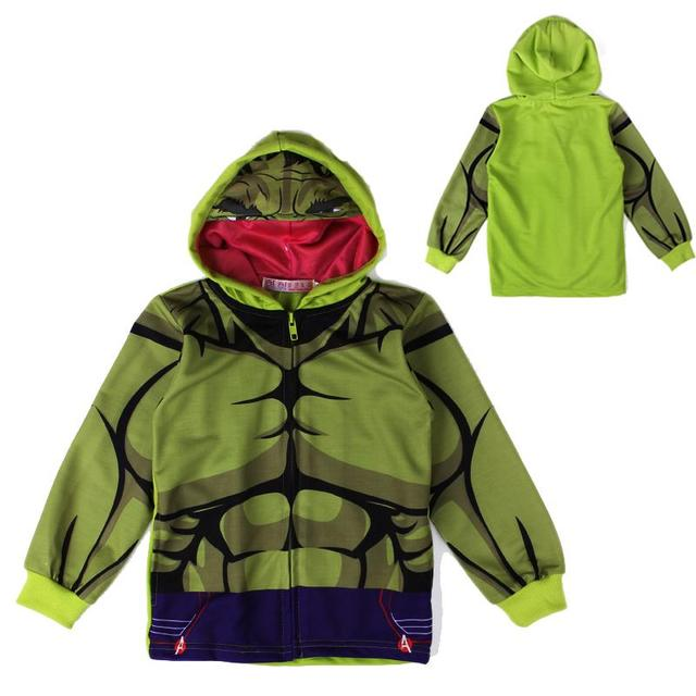 Новинка аниме мальчик толстовка толстовка фильм Халк шаблон зеленый балахон для 2-6yrs мальчики мужской моды дети верхняя одежда hotsale