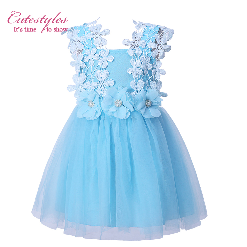 Cutestyles 3 Colors White Lace Flower Girl Dress Pink Princess Girls ...
