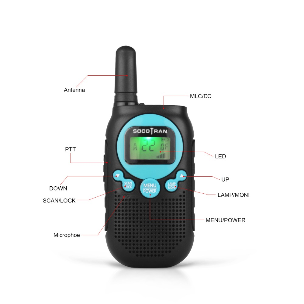 Image 3 - US/CA/MX license free walkie talke FRS/GMRS two way radio 0.5W 22CH VOX Radio with privacy code &rechargeable battery-in Walkie Talkie from Cellphones & Telecommunications
