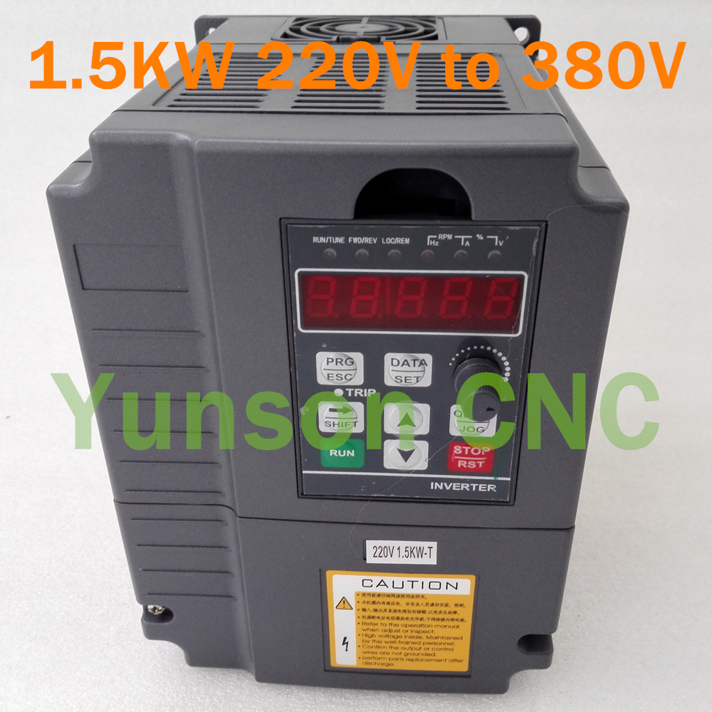 3phase 220V 1.5KW VFD Inverter Variable Frequency Driver for 2HP Spindle Motor