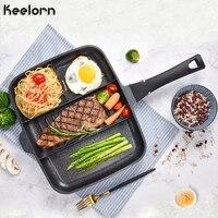 Keelorn 33*27cm Maifanshi Breakfast Pot Home Multi Function Non Stick Pan Frying Pan Steak Pot Kithen Tool