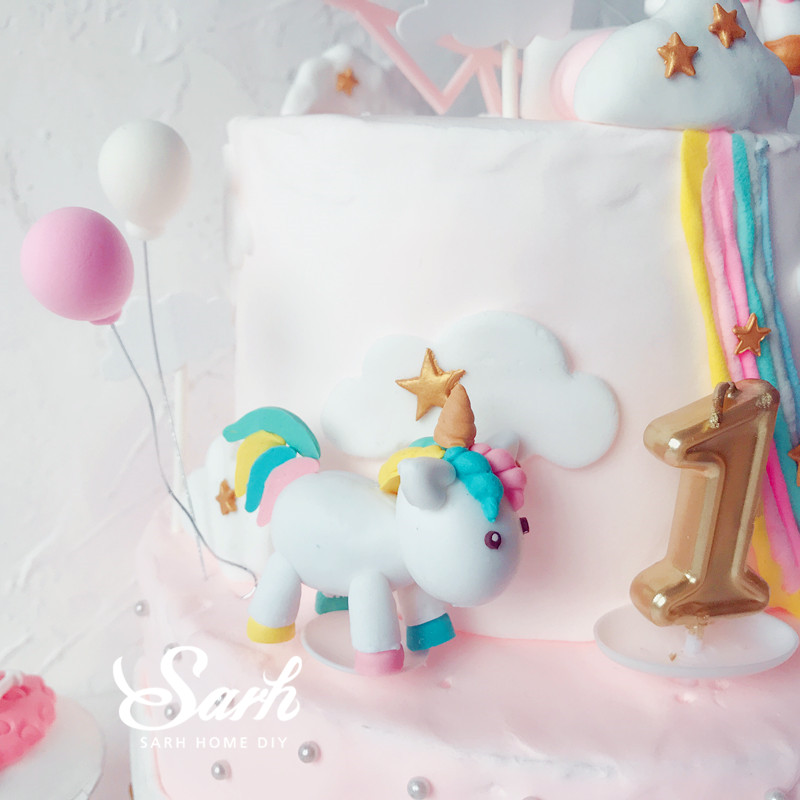 Pink White Unicorn Collection Cake Decoration Angel Wing Balloon Cake Topper for Party Decoration Dessert lovely Gifts in Cake Decorating Supplies from Home Garden