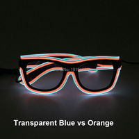 Phantasie maskerade partei sonnenbrille novelty beleuchtung blinkt sound aktive gläser multicolor el draht brillen für drama dekoration