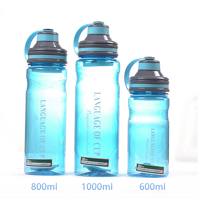 600ml/800ml/1000ml Space Plastic Water Bottle with Rope Tea Infuser My Outdoor Camping Sport Large Capacity Bottles Drinkwater